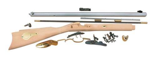 "Traditions Black Powder St Louis Hawken Rifle Kit .50 Caliber Percussion 28"" Octagonal Barrel White Hardwood Stock Clampacked"