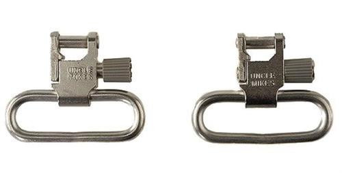 "Uncle Mike's 1.25"" Quick Detach Nickel Sling Swivels, SS"
