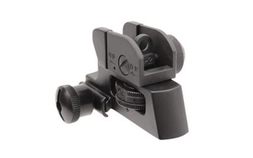 Leapers, Inc. - UTG Sight, Deatachable Rear, Fits Picatinny, Full Range Windage and Elevation Adjustment, Compact, Black