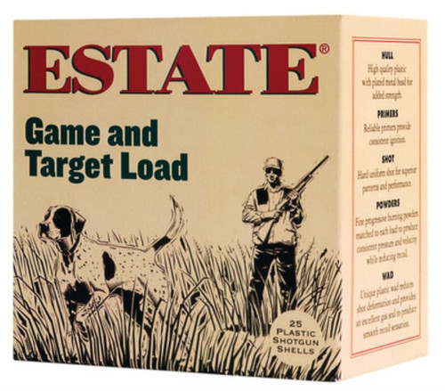 "Estate Game and Target Load 12 Ga, 2.75"", 1 ounce, 7.5 Shot, 1290 FPS, 25rd/Box"
