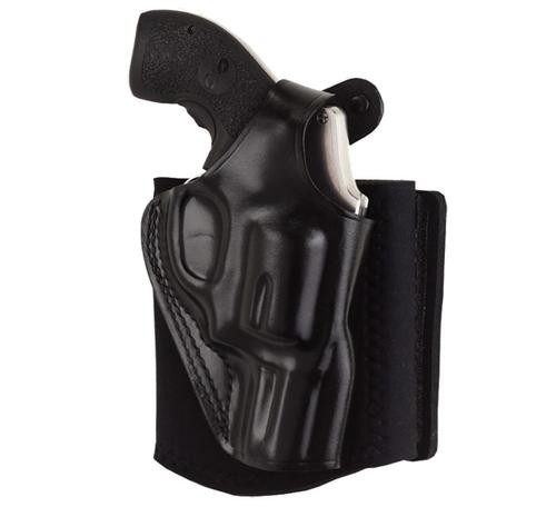 Galco Ankle Glove Holster for Glock 42 380 ACP Right Handed Black Leather with Neoprene Band