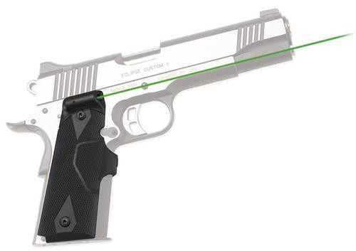 Crimson Trace Lasergrips 1911, Green, Full-Size