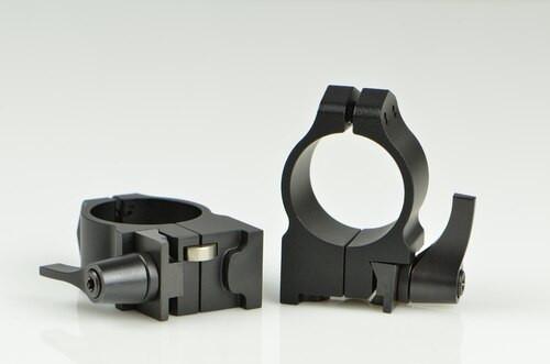 Warne Ruger 1 Inch Ruger, QD, Med Matte Rings, Fits #1, Mini 14-30, Grooved Receiver