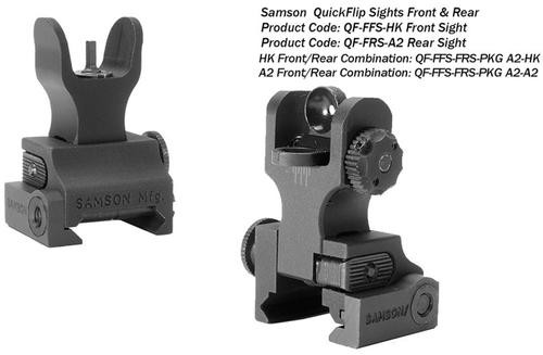 Samson Manual Folding A2 Front/Rear AR-15, Alum Black