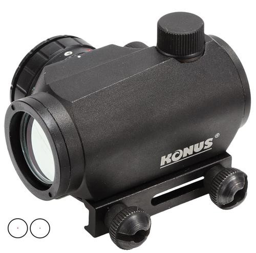 Konus Sight Pro 1x 20mm Obj 4MOA Black R/G Illum Reticle