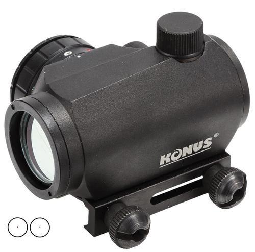 Konus, SightPro, Atomic Red Dot, Red Dot, 1X20, 20mm Tube, 4 MOA Red/Green Dot, Matte Black, Includes Lens Cover