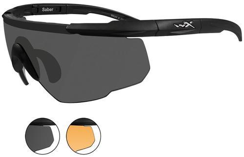 Wiley X Eyewear Saber Advanced Safety Glasses Smoke Grey/Matte Black