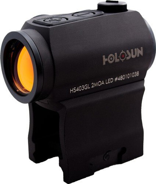 Holosun Micro Red Dot 2-MOA DOT Auto Awake, T1 Comp- Side Battery
