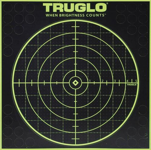 Truglo 6 Pack 100 Yard Circle Targets Hi-Viz 1/4 Measurments Self-Adhesive