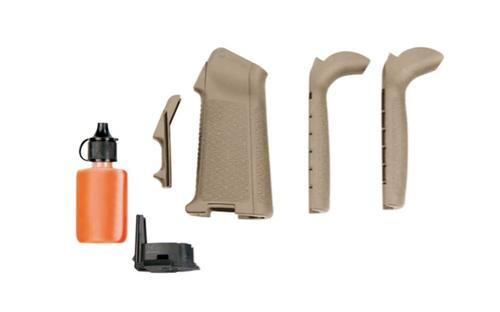 Magpul MIAD Full Grip Kit Flat Dark Earth, Standard Texture, 3x Backstraps, 4x Frontstraps Including Trigger Guard, 3 Rnd Plug