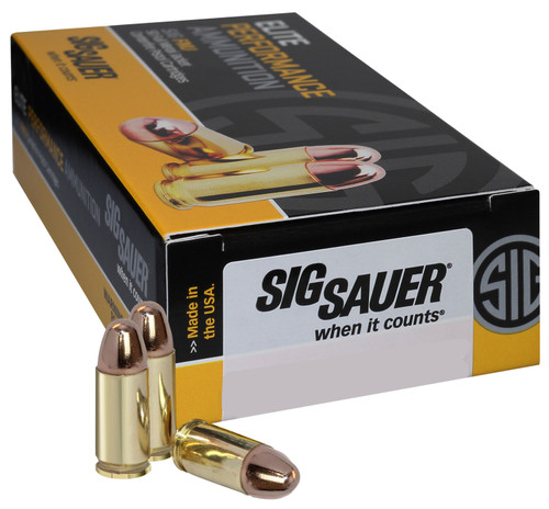 Sig Ammo 40Sw 180Gr Elite Ball FMJ 50rd Box
