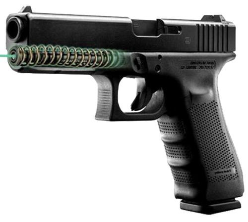 "LaserMax Guide Rod Green Laser For Glock 17 Gen4 4"" Black"
