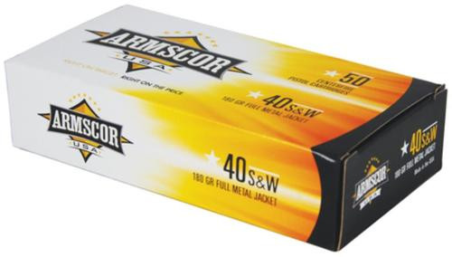 Armscor .40SW 180gr, FMJ, 50rd Box