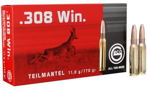 Geco .280 Rem 165gr, Soft Point, (.308 Shown) 20rd/Box
