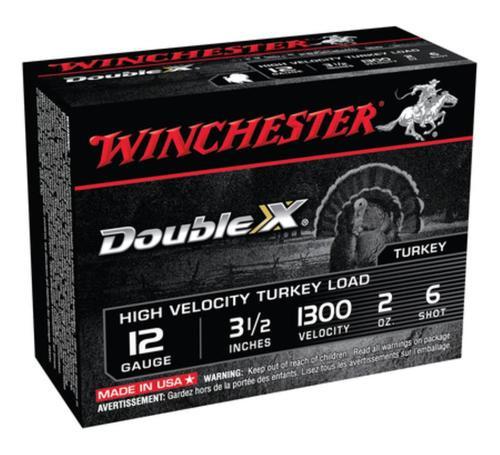 "Winchester Ammunition, Double X High Velocity, Turkey, 12 Gauge, 3.5"", #6, 2oz, 10rd Box"