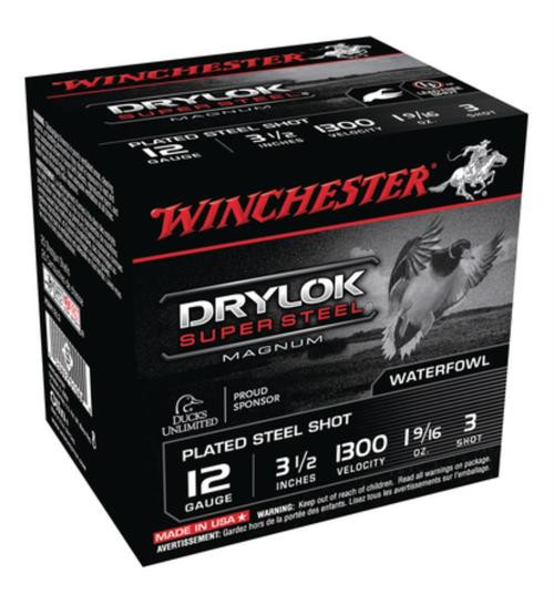 "Winchester Super-X Waterfowl Loads 12 Ga, 3.5"", 1-5/8oz, 3 Shot, 25rd/Box"
