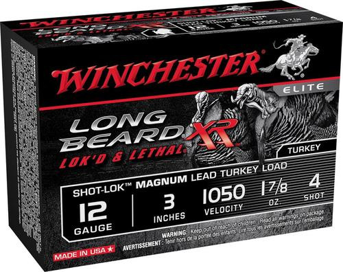 "Winchester Long Beard XR 12 Ga, #4 Lead, 3"", 1-7/8 oz, 1050 FPS, 10rd/Box"