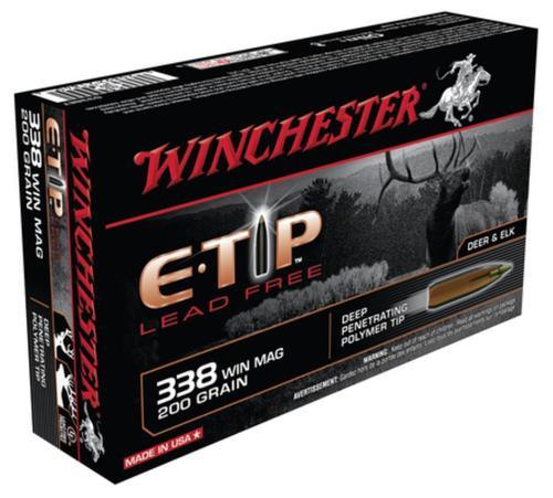 Winchester E-Tip Lead-Free .338 Winchester Magnum 200 Grain E-Tip Lead Free