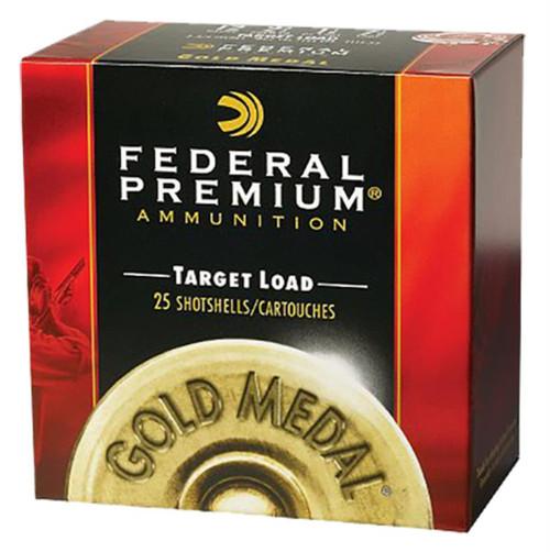 "Federal Competition Gold Medal Plastic 12 ga 2.75"" 1-1/8oz 8 Shot 25Bx/10C"