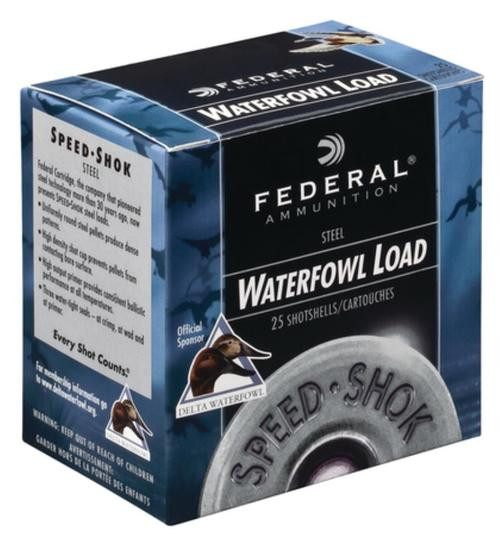"Federal Speed-Shok Steel 12 Ga, 3"", 1550 FPS, 1.125oz, T Shot 25rd/Box"