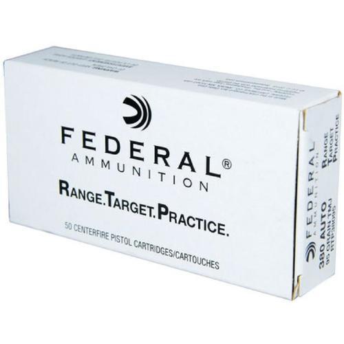 Federal 380 ACP 95gr, RTP Range Target Practice, 50rd Box