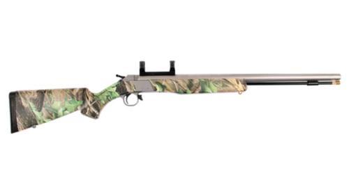 "CVA Wolf 209 Magnum .50 Caliber 24"" Stainless Steel Barrel DuraSight Dead-On One-Piece Scope Mount Realtree Hardwoods Green HD Stock"