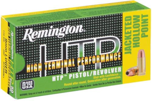 Remington HTP 45 ACP 185gr, Jacketed Hollow Point, 50rd Box