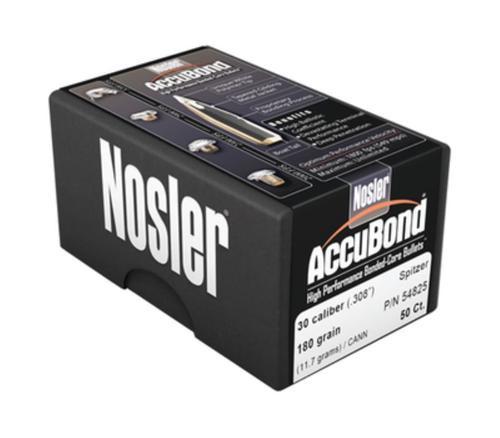 Nosler Accubond Reloading Bullets .308 Diameter 180gr, Spitzer, 50/Box