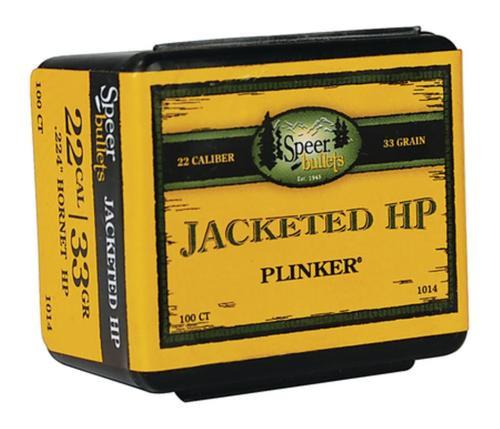 Speer Plinker Rifle Bullet .224 Diameter 33 Gr, Jacketed Hollow Point, Hornet, 100/Box
