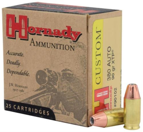 Hornady 380ACP 90gr, Jacketed Hollow Point Extreme Terminal Performance 25rd/Box