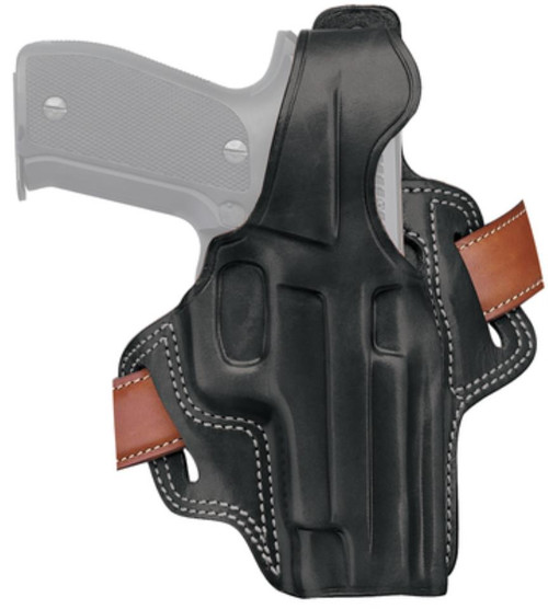 Galco Fletch High Ride Belt Holster Right Hand Black S&W L-Frame 4