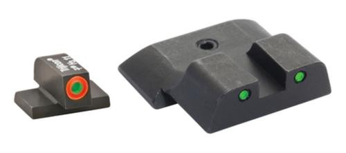 AmeriGlo Spartan Tactical Tritium Night Sight Set For S&W M&P (except Shield) Orange/Green