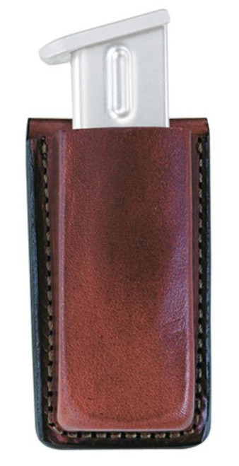 "Bianchi 20A Open Mag Pouch Fits Belts up to 1.75"" Tan Leather"