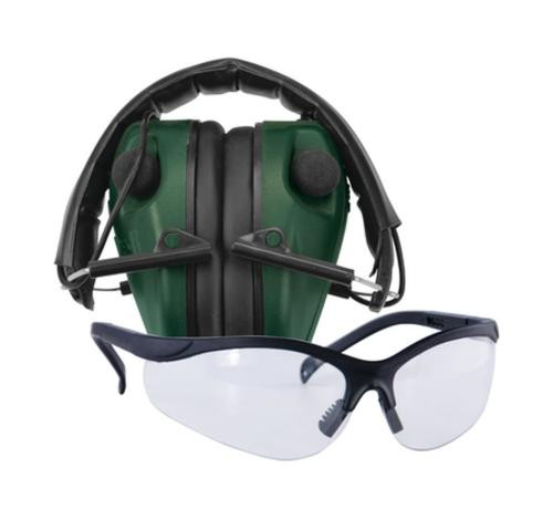 Battenfeld Technologies Caldwell E-Max LoPro Electronic Muffs With Shooting Glasses