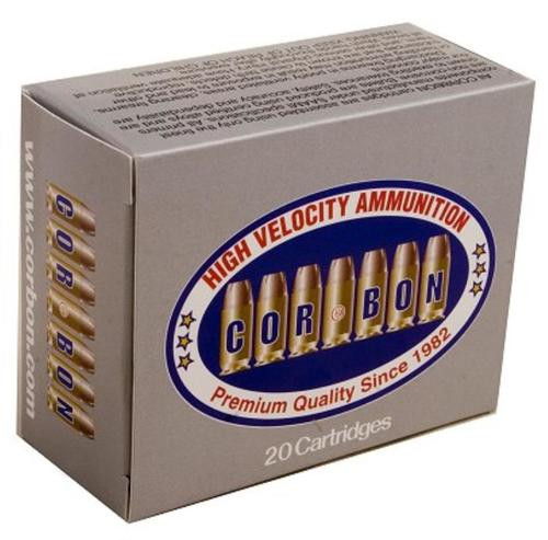 Cor-Bon Self Defense .38 Super +P 115 Gr, Jacketed Hollow Point, 20rd Box
