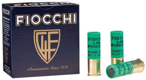 """Fiocchi Rubber Baton Slug 12 Ga, 2.75"""", 4.8 Grams Slug Shot, 25rd/Box"""