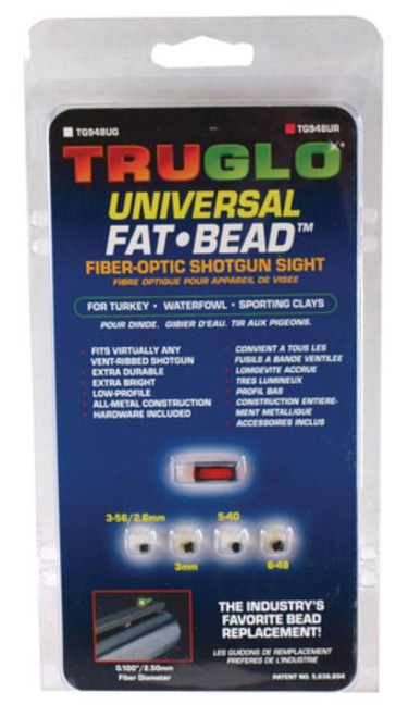 Truglo Fat Bead Shotgun Sight Universal Red
