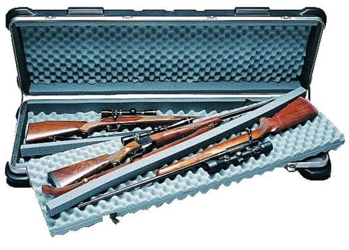 SKB Quad Rifle/Shotgun Case, Wheels, Polyethylene Ribbed