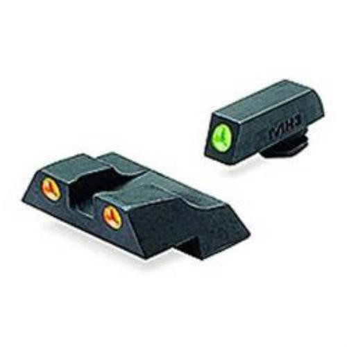 Meprolight Tru-Dot NS Fixed Set Glock 26/27 Tritium Green F/Orange Rear