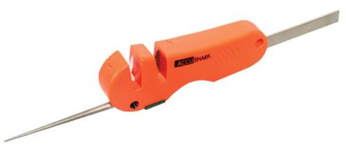Accusharp Knife and Tool Sharpener 4-in-1 Tungsten Carbide