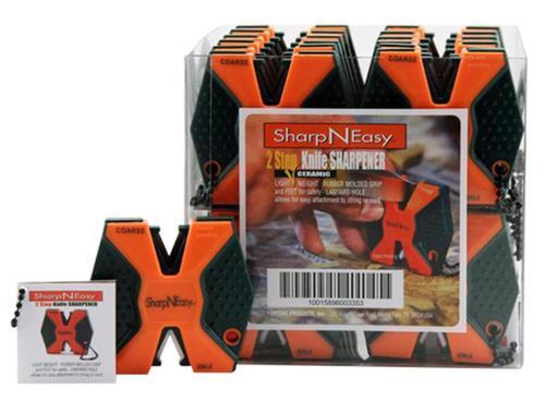 Accusharp SharpNEasy 2 Step Sharpener Ceramic Stone Fine/Coarse, Orange