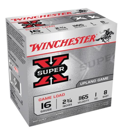 "Winchester Super-X Game 16 Ga, 2.75"", 1 oz, 8 Shot, 25rd/Box"