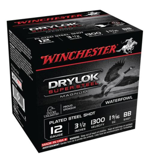 "Winchester Super-X Waterfowl Loads 12 Ga, 3.5"", 1-5/8oz, BB Shot, 25rd/Box"