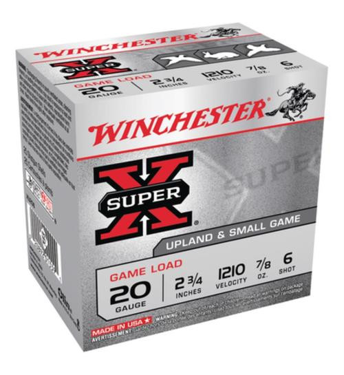 "Winchester Super-X Game 20 Ga, 2.75"", .88 oz, 6 Shot, 25rd/Box"