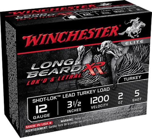 "Winchester Long Beard XR Shot-Lok Lead Turkey 12 Ga, 3.5"", 5 Shot, 10rd/Box"
