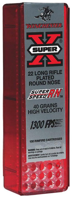 Winchester Super-X 22LR 40gr, Round Nose 100rd Box