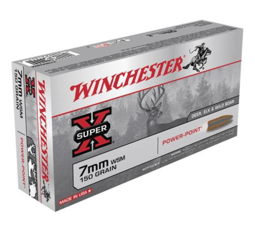 Winchester Super X 7mm Win Short Mag Power-Point 150gr, 20Box/10Cs