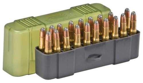 Plano Molding Slip Top Small Rifle Ammo Case 20rd Gray/Green