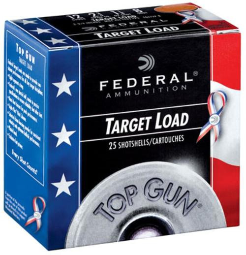 "Federal Top Gun Target 12 Ga, 2.75"", 1-1/8oz, 8 Shot, 1145fps, 25rd/Box"