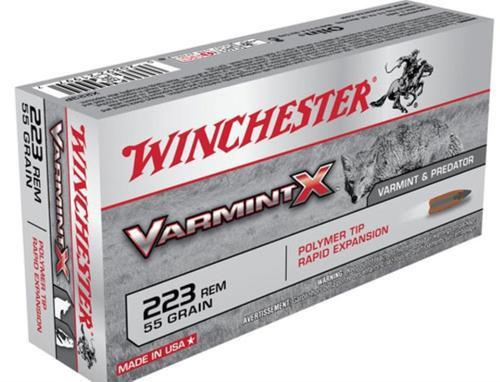 Winchester Varmint X .223 Rem, 55 Gr, Poly Tip, 40rd/Box